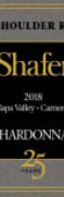 shafer red shoulder ranch chardonnay -  wimbledon wine cellar