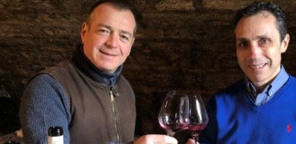 Jerome Galeyrand with Peter from Wimbledon Wine Cellar
